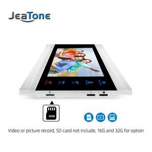 Image 3 - Jeatone 7 Polegada indoor monitor de vídeo porta telefone campainha intercom sistema gravação vídeo foto tomada montagem na parede prata
