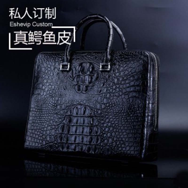 Ourui New  True  Crocodile  Male  A Briefcase  Combination Lock Men Handbag Men Briefcase Office Worker  Leisure Business