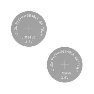 Image 2 - Batteria ricaricabile agli ioni di litio LIR2450 3.6V 2 pezzi batteria a bottone al litio LIR 2450 sostituisce CR2450