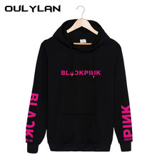Oulylan Autumn Hoodies blackpink Women Casual Solid Loose Drawstring Sweatshirt Fashion Long Sleeve Hooded Ladies Pullover(China)