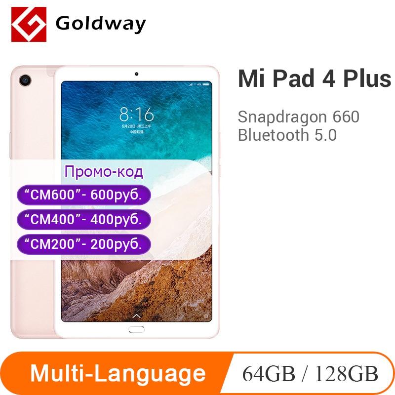 Original Xiaomi Mi Pad 4 Plus Tablets 4 Snapdragon 660 AIE Mi Pad 4 8620mAh 10.1'' 16:10 1920x1200 FHD Display 64GB/128GB 13MP