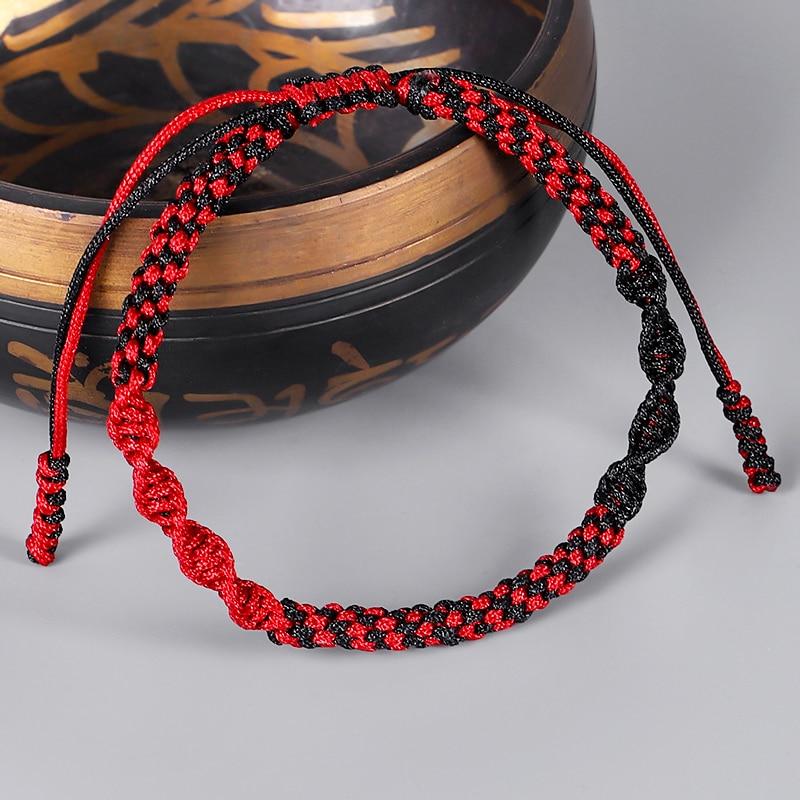 Тибетский буддийский амулет на удачу, тибетские браслеты и браслеты для женщин и мужчин, ручной работы с узелками, Подарочный браслет на уда...