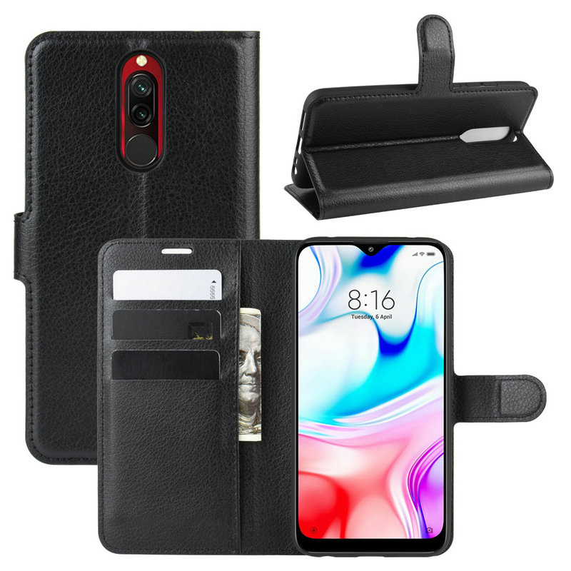 For Xiaomi Redmi <font><b>8</b></font> Wallet Phone Case for Xiaomi Redmi 8A <font><b>8</b></font> A 64G 32GB Flip Leather Cover Case Capa Etui Coque Fundas image