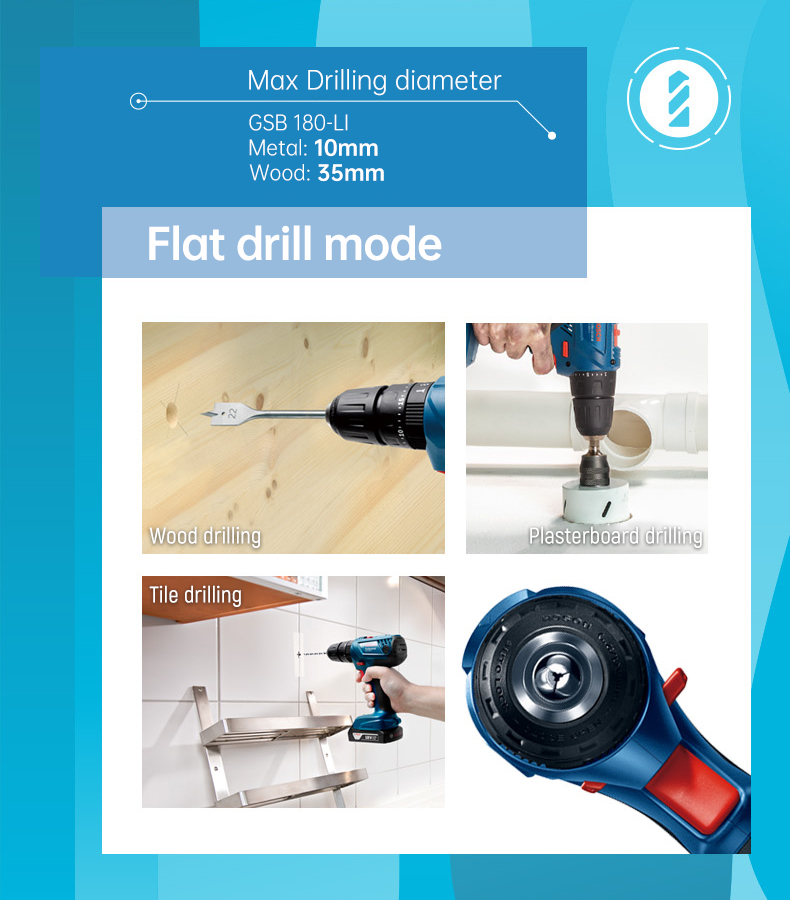 Flat drill mode