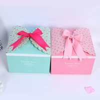10 pcs paper box Mini Kraft Paper Box Wedding Gift Favor Boxes Party Candy Box Packaging with Ribbon 22x22x15cm