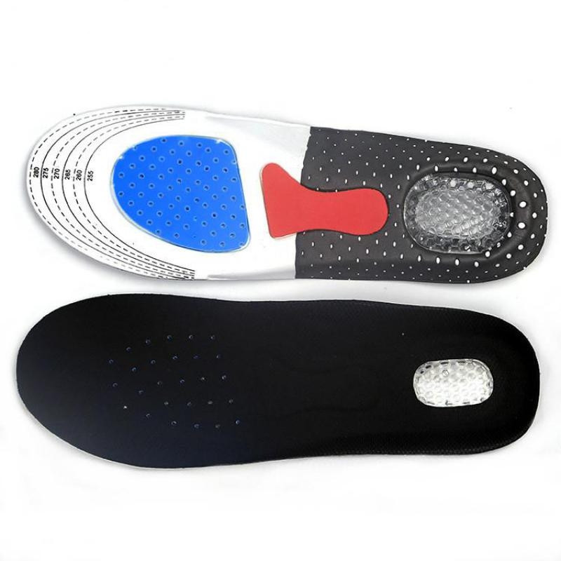 Sports Insoles Flat Foot Arch Support Deodorant Breathable Insoles Shock Absorbent Foot Pad Heel Gel Cushion Shoe Pads Inserts
