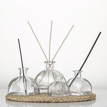 5pcs 150ml Yurt Aroma Glass Bottle Rattan Fragrance Diffuser Perfume Bottle Scent Volatilization Glass Container Home Decor