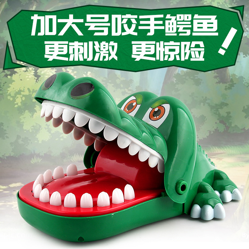 Hot Sale New Big Size Crocodile Mouth Popular Dentist Bite Finger Game Funny Gags Toy Novetly Toy For Kids