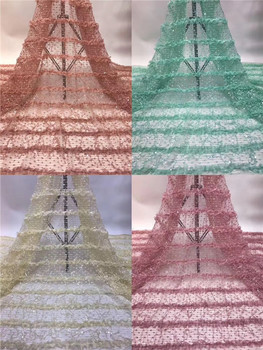 New coming French lace material for sewing African tulle net lace fabric for dress PAN93(5yards/lot)