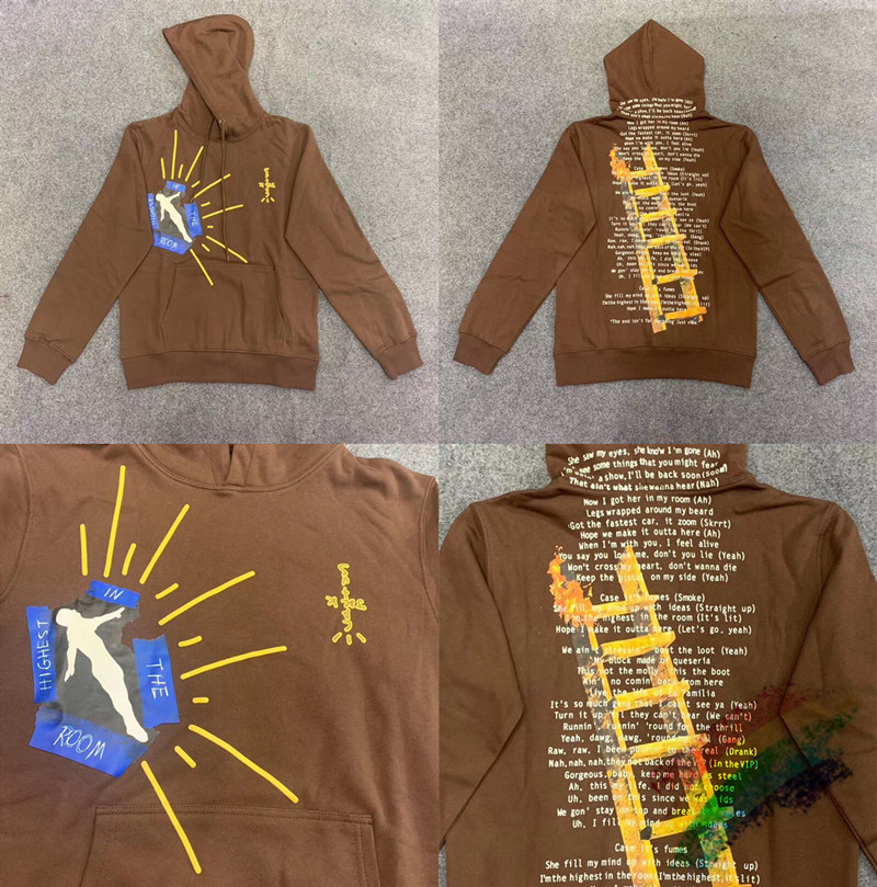 Travis Scott Highest In The Room Cactus Jack Astroworld Hoodie Women Men High Quality Fashion Mens ASTROWORLD Pullover