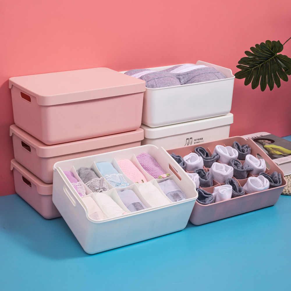 3pc Drawer Divider Closet Underwear Socks Bra Organizer Container Storage Box US