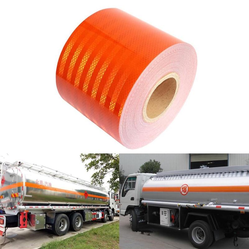 15cmx3m Orange Warning Tape For Dangerous Vehicles Safety Warning Reflective Film