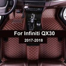 Esteiras do assoalho do carro para infiniti qx30 2017 2018 personalizado almofadas pé automóvel tapete capa
