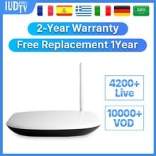 Leadcool Q1304 IPTV Europe Rk3229 Android Tv Box Receiver 8.1 4k IUDTVPro Portugal Turkey Nordic Subscription IP TV