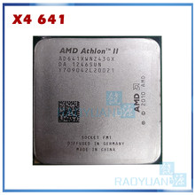 Amd athlon ii X4 641X4 641X X4-641X X4-641 2.8GHz 100W Quad-Core procesor cpu AD641XWN43GX gniazdo FM1/905pin(China)