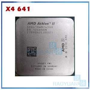 AMD Athlon II X4 641 X4 641X X4-641X X4-641 2.8GHz 100W Quad-Core CPU Processor AD641XWN43GX Socket FM1/ 905pin