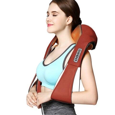 massagem corporal carro eletrico casa dupla utilizacao volta pescoco ombro corpo massageador knead knock infravermelho