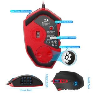 Image 5 - Redragon אבדון M901 USB wired Gaming Mouse 24000DPI 19 כפתורים לתכנות משחק עכברים תאורה אחורית ארגונומי מחשב נייד מחשב מחשב