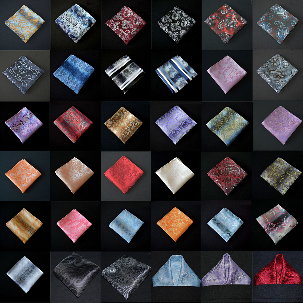 Men Handkerchief Floral Paisley Printed Business Pocket Square Party Accessories