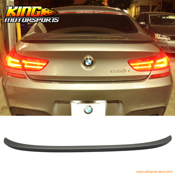 Fit For 12-17 BMW F13 M6 M Type Trunk Spoiler Matte Black Painted ABS