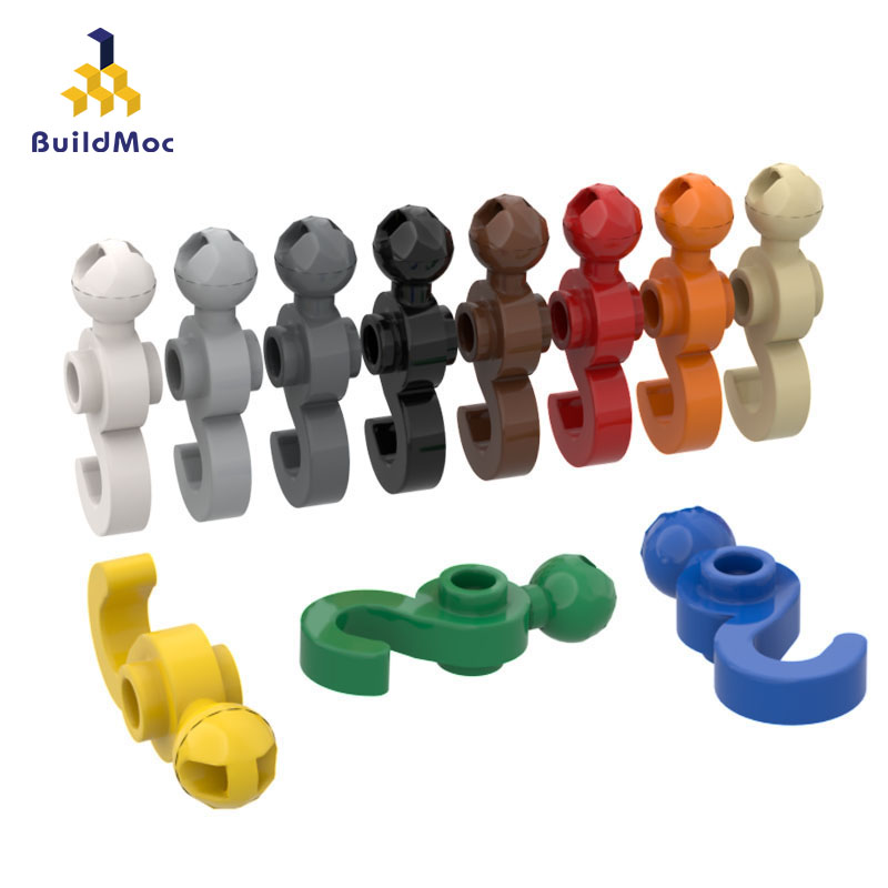 Buildmoc compatível monta partículas 30395 com pequena bola gancho blocos de construção peças diy logotipo educacional tecnologia peças brinquedos