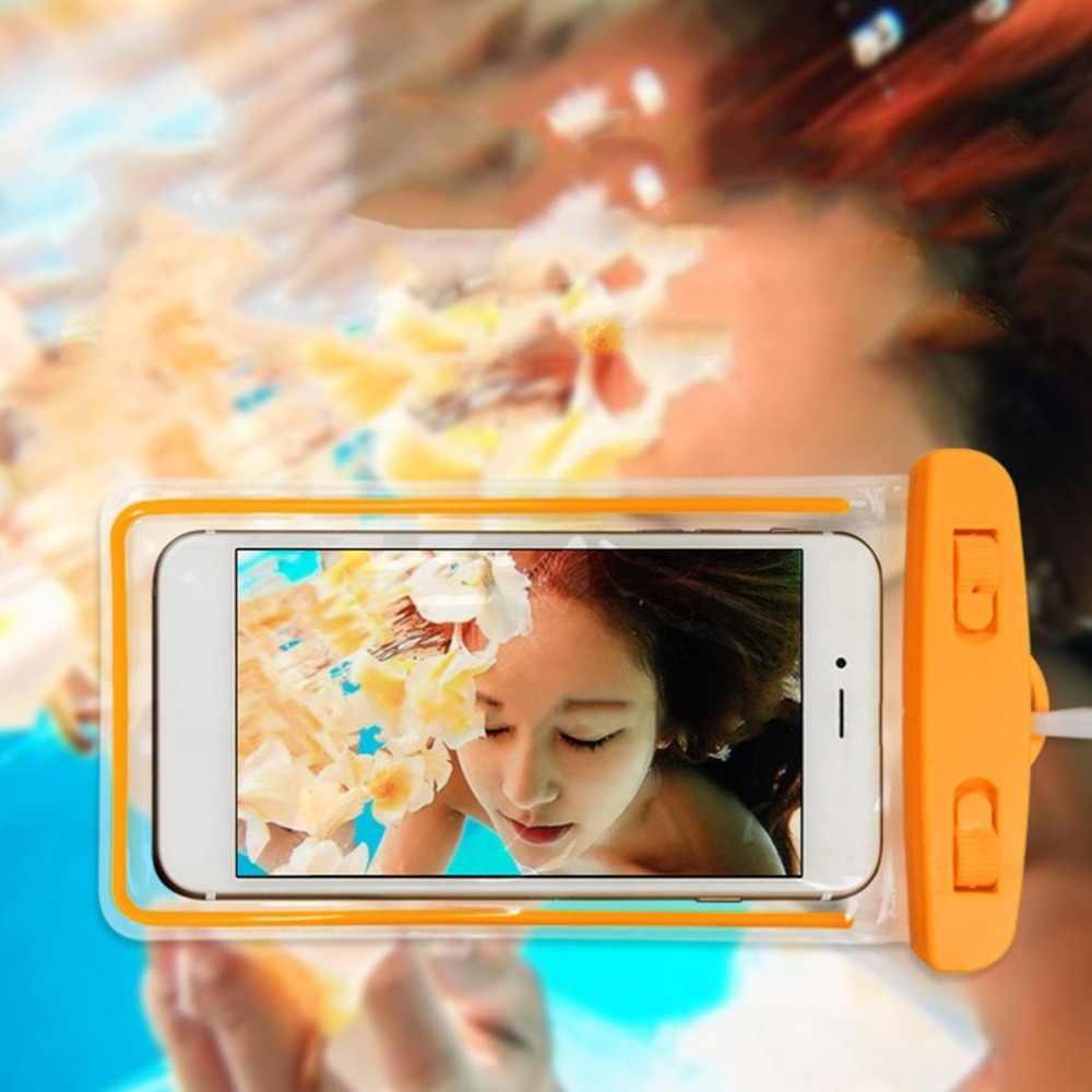Сумки для плавания водонепроницаемая сумка со светящимся подводным чехлом чехол для телефона iphone 6 6s 7 Универсальные Все модели 3,5 дюймов-6 дюймов