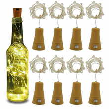 Outdoor Light Wire-String Wine-Bottle Festival Solar-Powered Cork Led-Copper 1m/2m-Shaped