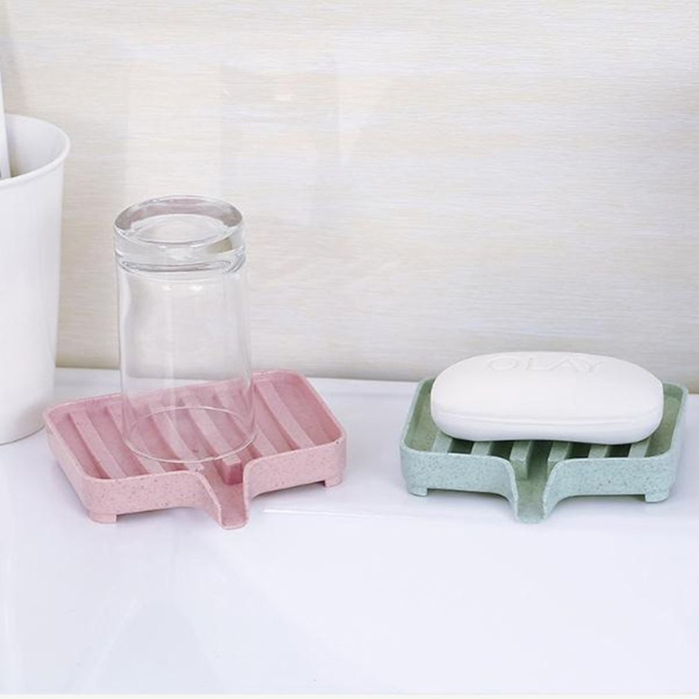 Creative Wheat Stalks Plastic Soap Holder Draining Shelf Bathroom Portable Soap Dish Storage Box Organizer Rack