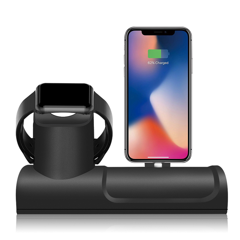 Cable Management Desktop Nightstand Charging Stand for Apple Watch 4/3/2 Silicone Charge <font><b>Dock</b></font> <font><b>Station</b></font> for <font><b>Iphone</b></font> X/XS/8/7 image