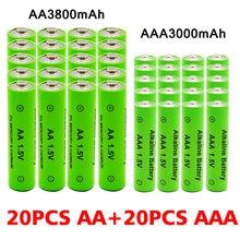AA + AAA wiederaufladbare AA 1,5 V 3800mAh/1,5 V AAA 3000mAh Alkaline batterie taschenlampe spielzeug uhr MP3 player ersetzen Ni-Mh batterie