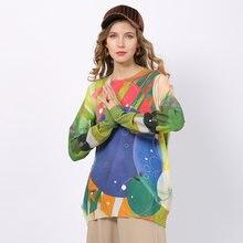 Зимняя одежда для женщин длинные свободные свитера платье с