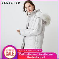 SELECTED Winter Women's Solid Color Outwear Braid Hair Hooded Loose Down Jacket Coat S | 418412552