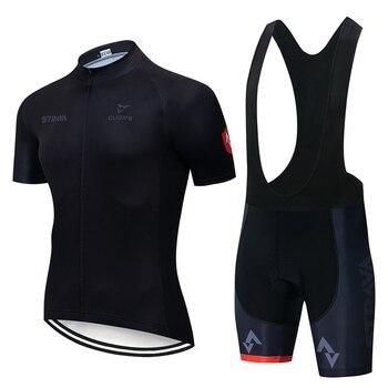 STRAVA-Conjunto de uniforme de Ciclismo para hombre, Ropa de Ciclismo, Culotte corto,...