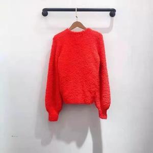 Image 3 - Женский модельный пуловер, красный, розовый, темно синий джемпер на осень и зиму, 2019