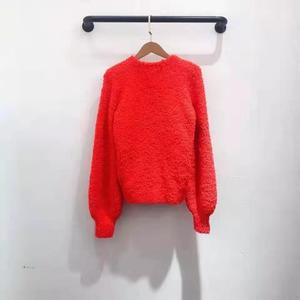 Image 3 - 2019 autumn winter runway women pullover red pink dark blue lady fashion jumper winter female sweater