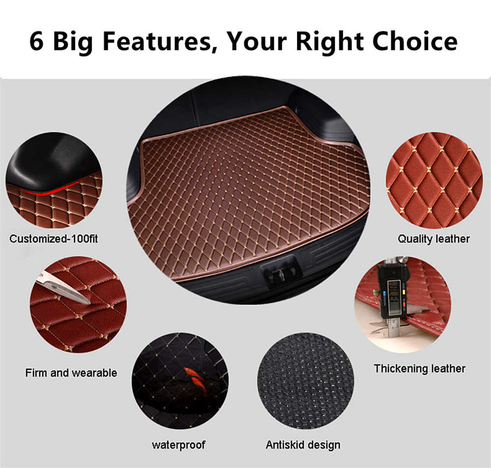 SJ Car Trunk Mat Tail Boot Tray Auto Floor Liner Cargo Carpet Luggage Mud Pad Accessories Fit For Lexus GX Series 2010 2011-2019