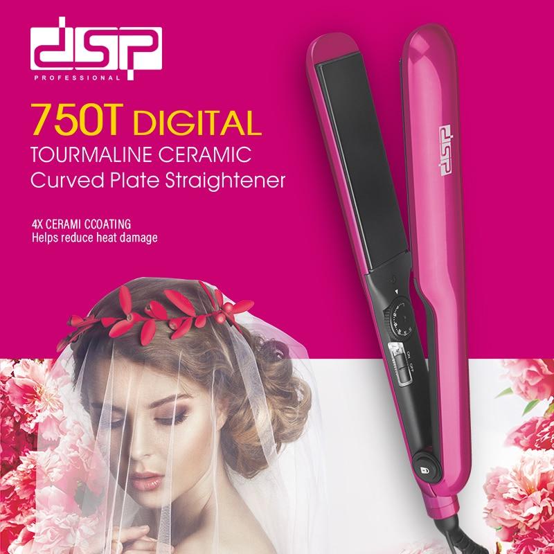 Professional Hair Straightener Hair Iron Ceramic Straightening Splint DSP  Hair Flat Iron 220v Fast Shape Straight Hair Splint