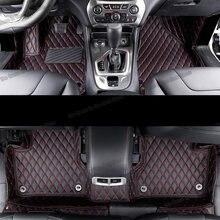 De cuero alfombrillas de interior de coche esteras para jeep cherokee KL 2014, 2015, 2016, 2017, 2018, 2019, 2020, 2021 piezas de accesorios alfombra cubierta