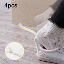 4 szt Leniwy pomocnik do butów Unisex obsługiwane łyżka do butów łatwe zakładanie i zdejmowanie butów podnoszenie butów pomocnicze podnośniki tanie tanio Pannow Z tworzywa sztucznego Shoe Hanger
