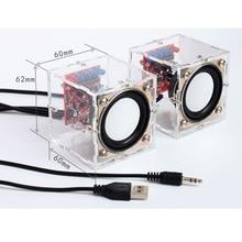 1 คู่ DIY 3W อิเล็กทรอนิกส์กล่องลำโพงฮอร์นการผลิตชุดเปลือก 2.36 นิ้วคอมพิวเตอร์ Electronics DIY ชุด