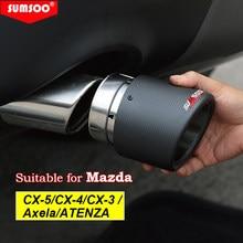 SUMSOO – embout de sortie d'échappement en fibre de carbone, 1 pièce, pour Mazda Axela, ATENZA