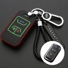3 кнопки кожаный чехол для автомобильных ключей, чехол с откидной крышкой для Защитные чехлы для сидений, сшитые специально для Chery Tiggo Arrizo фо...