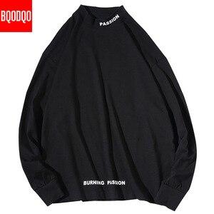 Image 5 - גולף מזדמן T חולצת גברים ארוך שרוול אביב סתיו היפ הופ אופנה כושר Tees זכר Harajuku הגדול Streetwear T חולצות
