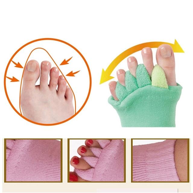 1 Pair Five Toe Socks Orthotics Separators For Toes Bunion Corrector Orthopedic Hallux Valgus Posture Correction Ectropion Corre 1
