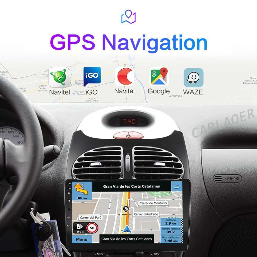 2din Android 10 untuk Peugeot 206 2000 -2016 Mobil Radio Pemutar Video Multimedia GPS Navigasi 2 Din Player Wi Fi 4G 2G + 32G IPS