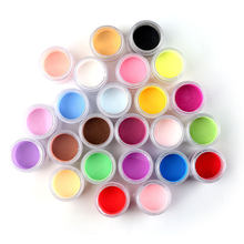 Acryl Poeder Collectie 10G Elke 12 Potten/Lot 24 Kleuren Acryl Poeder Set Voor Nail Art 3D Diy tips Decoratie, HG768-jjk8989(China)