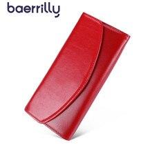 Luksusowe torebki ze skóry naturalnej damski portfel długie kopertówki damskie portfele z etui na telefon kobieta RfidCard Holder Carteira