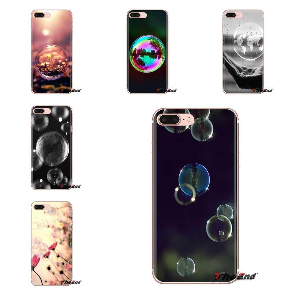 Đẹp Pastel bong bóng Xà Phòng Dành Cho Samsung Galaxy Samsung Galaxy S2 S3 S4 S5 MINI S6 S7 Edge S8 S9 Plus Note 2 3 4 5 8 Coque Fundas Vỏ Điện Thoại