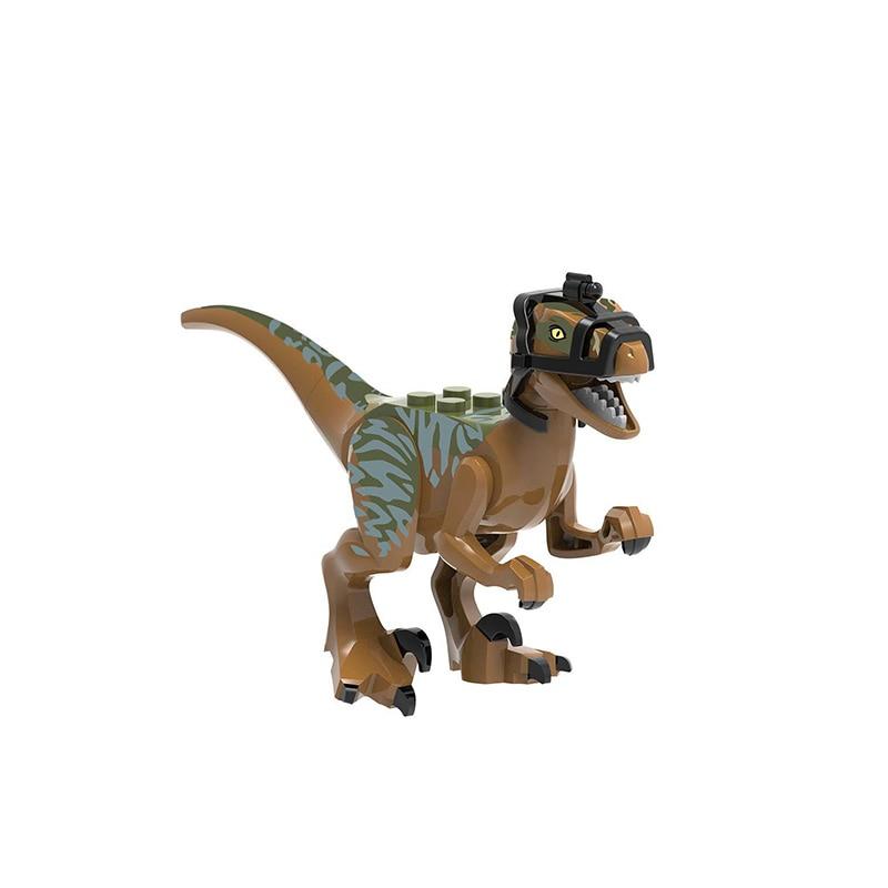 8pcs Jurassic Dinosaur Set Building Block Toy Figure Velociraptor Pteranodon Dilophosaurus World Dino Brick Compatible in Blocks from Toys Hobbies