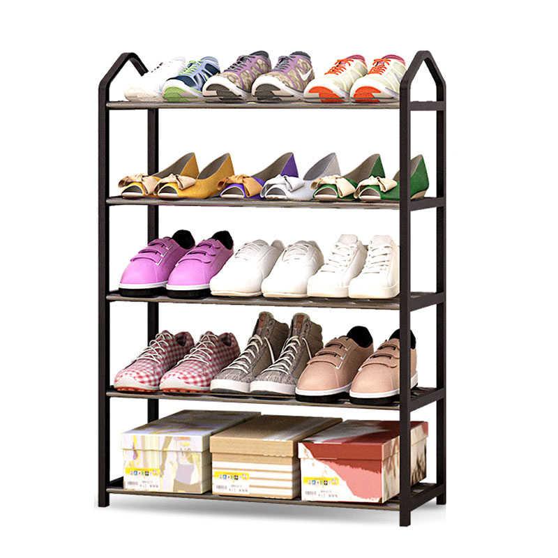 معدن الحديد رف للأحذية أسلوب بسيط متعدد الطبقات طالب عنبر حذاء تخزين الرف لتقوم بها بنفسك خزانة خذاء المنزل sapateira